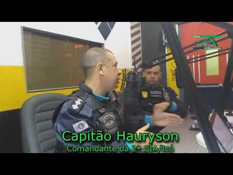 Portal Icó News: Trechos da entrevista com o Capitão Hauryson na Radio Vale de Icó 26/09/2017