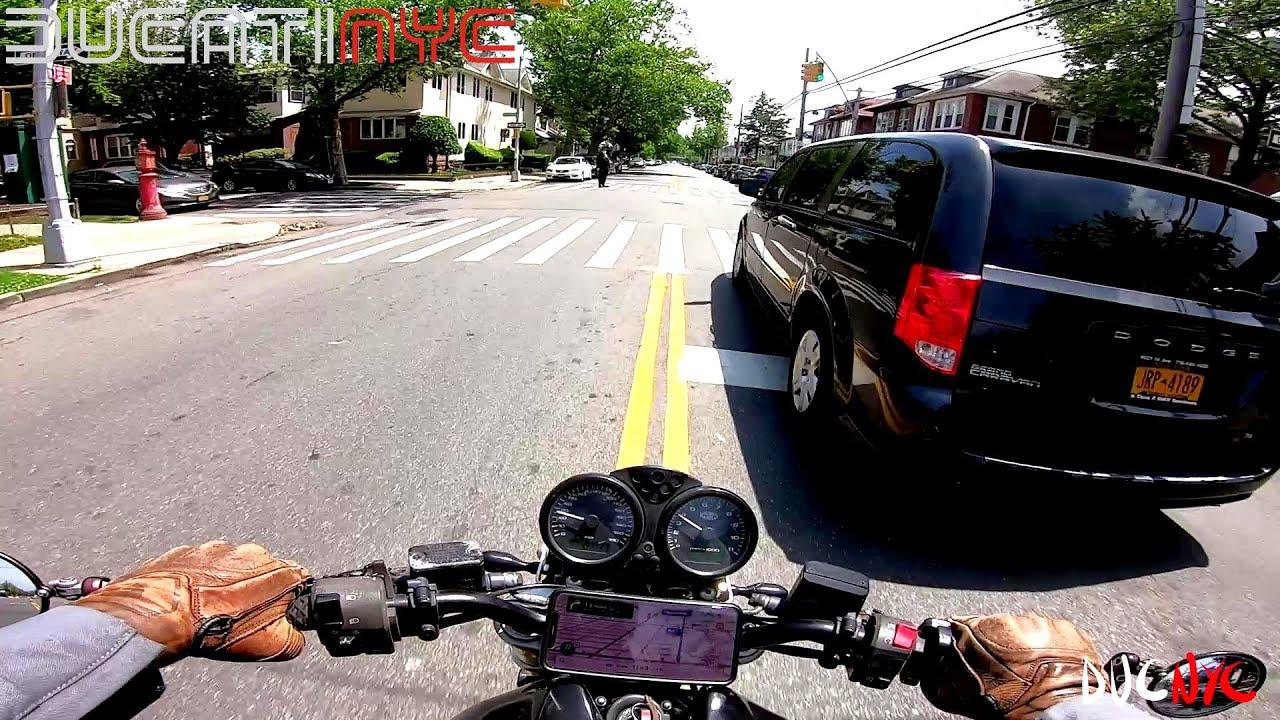 Hot Dash to Marine Park, Brooklyn - Bad Bois Garage - MotoFella Dave's Spot on my Ducati v1263