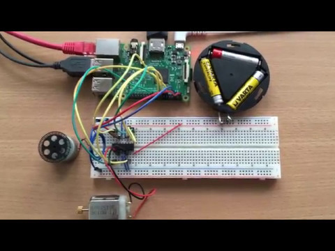 Raspberry Pi Control DC Motor Speed and Direction with Java