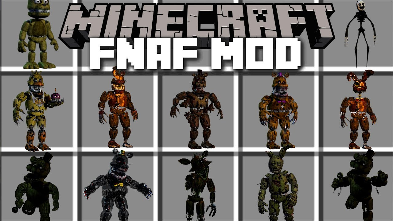 Horror multiplayer retro survival fangame fnaf view all - Minecraft Five Nights At Freddy S Mod Kill Scary Monsters And Survive Minecraft
