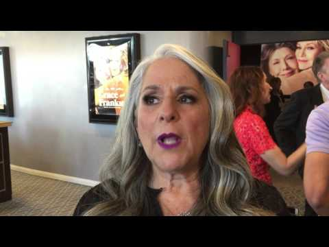 "Co-creator Marta Kauffman chats on the ""Grace and Frankie"" red carpet for the 2nd season premiere"