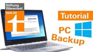 Tutorial: Daten sichern & wiederherstellen, Backup mit Windows 10