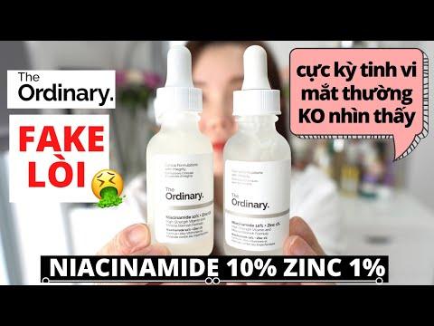 The ORDINARY Niacinamide 10% + Zinc 1% Serum hàng FAKE siêu TINH VI - 15 Điểm PHÂN BIỆT hàng FAKE