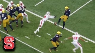 NC State Blocks Punt For TD vs. Notre Dame