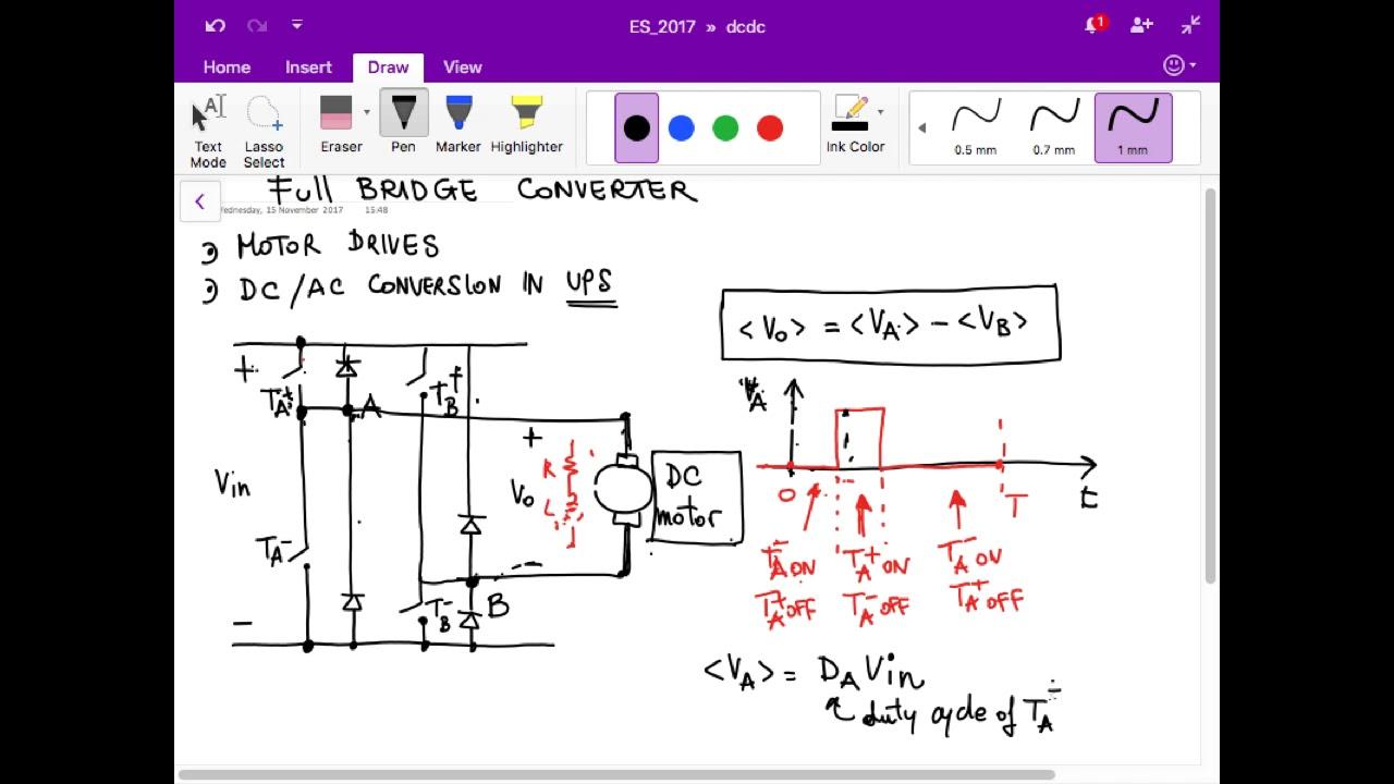 Full bridge DC-DC converters - Electronic Systems 2017