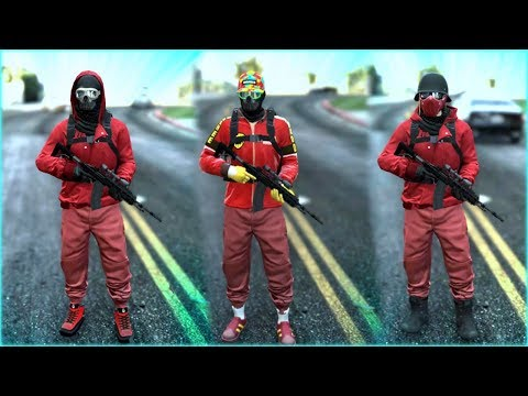 Top 3 Best Red TryHard & RnG Modded Outfits In GTA 5 ONLINE! (Best