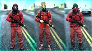 Top 3 Best Red TryHard & RnG Modded Outfits In GTA 5 ONLINE! (Best Clothing Glitches 1.40)