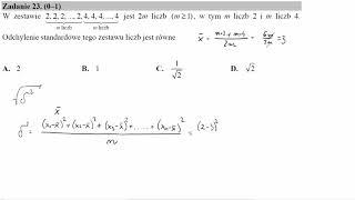 W zestawie 2,2,2,   ,2 m liczb,4,4,4,   ,4 m liczb jest 2m liczb m≥1, w tym m liczb 2 i m liczb 4  O