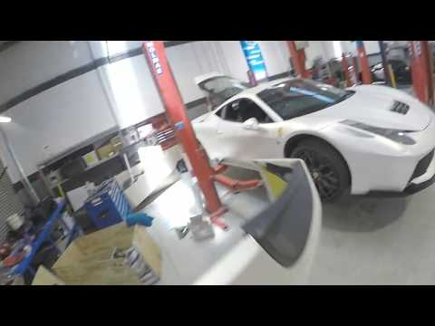 Ferrari 458 Italia gearbox replacement.