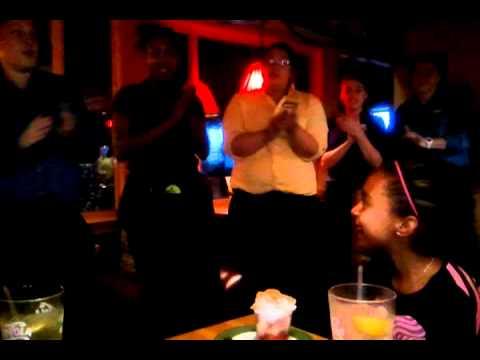 Kayla's Birthday song at Applebee's