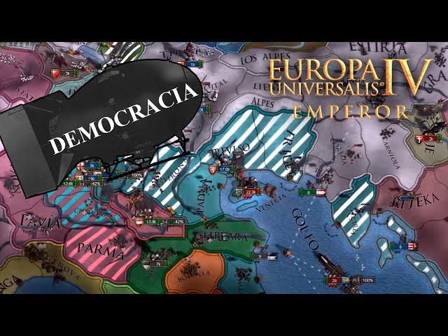 Llevamos la DEMOCRACIA a VENECIA   EU4: Emperor con AUSTRIA #6