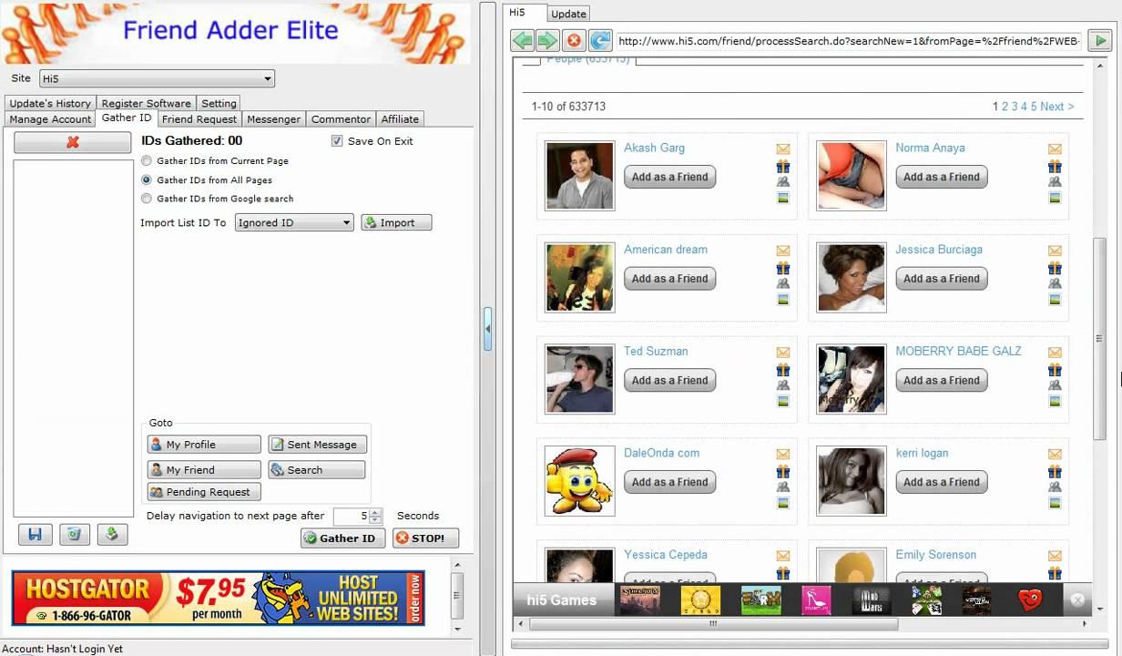 hi5 login photos