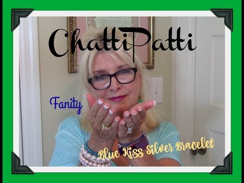 ChattiPatti - 😘 Fanity Mirror l Blue Kiss Silver Bracelet ~ 5-6-16
