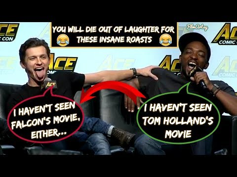 Anthony Mackie & Sebastian Stan Continuously Roasting Tom HollandPart2  Avengers: Infinity War