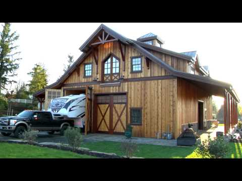 Barn Pros - Timber Framed Denali 60 Gable Barn