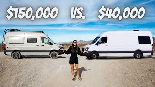 $150k vs. $40k SPRINTER VAN (full tour)