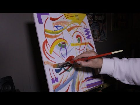 Abstract Painting ART VIDEO Group Art Night!  Oct 2018