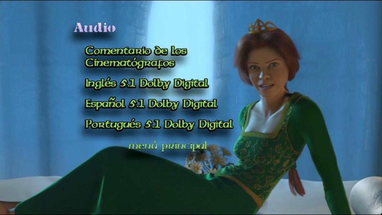 Download Shrek DVD Menú 2001 en inglés, español y portugués