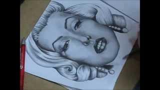 Speed drawing Marilyn Monroe