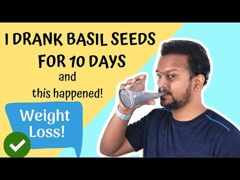 Basil Seeds Drink 10 Days Results ⭐ True Review On WEIGHT LOSS With Basil Seeds And Benefits