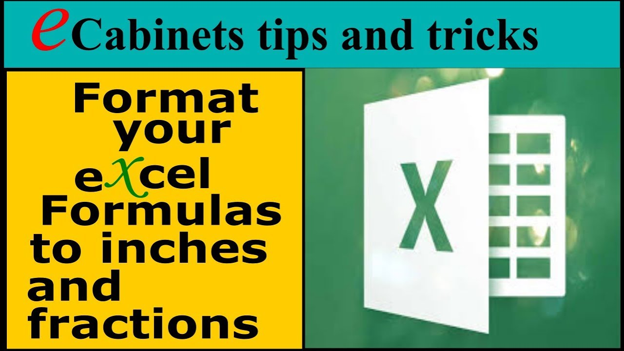 Format your excel formulas to inches and fractions youtube biocorpaavc Images