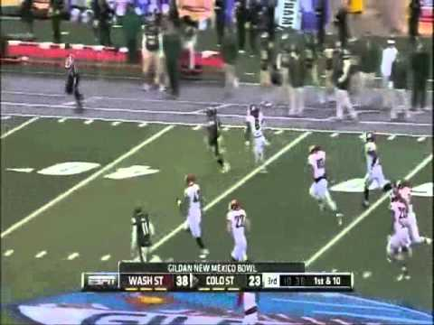 Kapri Bibbs (Colorado State) POWERFUL 75 Yard TD Run | Gildan New Mexico Bowl |