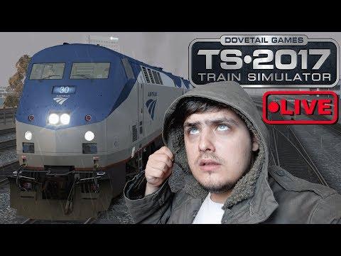 🔴Train Simulator 2017  Amtrak P42 Night Shift Live Stream🔴