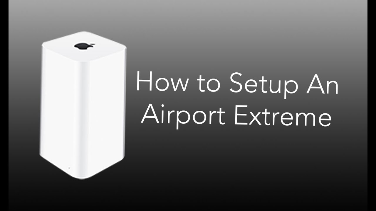 How To Setup An Airport Extreme Youtube Diagram Also Gear Cable Modem Router As Well Ether Crossover