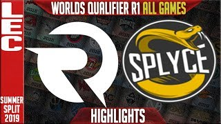 OG vs SPY Highlights ALL GAMES | LEC Summer 2019 Worlds Qualifier R1 | Origen vs Splyce
