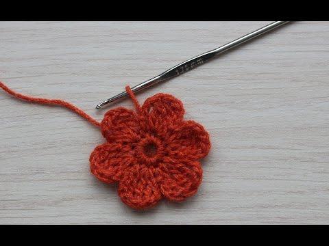 Вязание цветочка крючком видео