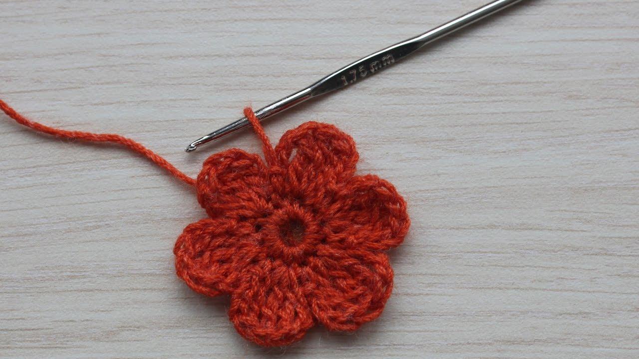 Как связать цветок крючком пошаговое фото