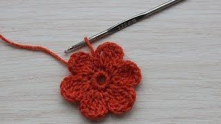 Вязание крючком. Урок 20 - Простой цветочек | Simple flower crochet