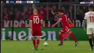 ملخص مباراه بايرن ميونخ واشبيليه 0-0 دورى ابطال اوروبا