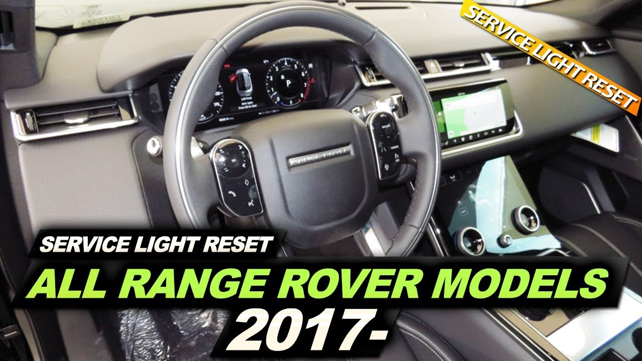 Range Rover Service Light Reset ALL MODELS 2017-