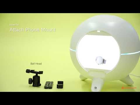 Foldio360 Smart Dome - How to Attach Phone Mount + Tips