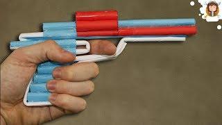 Revolver de Papel que Dispara 6 Balas