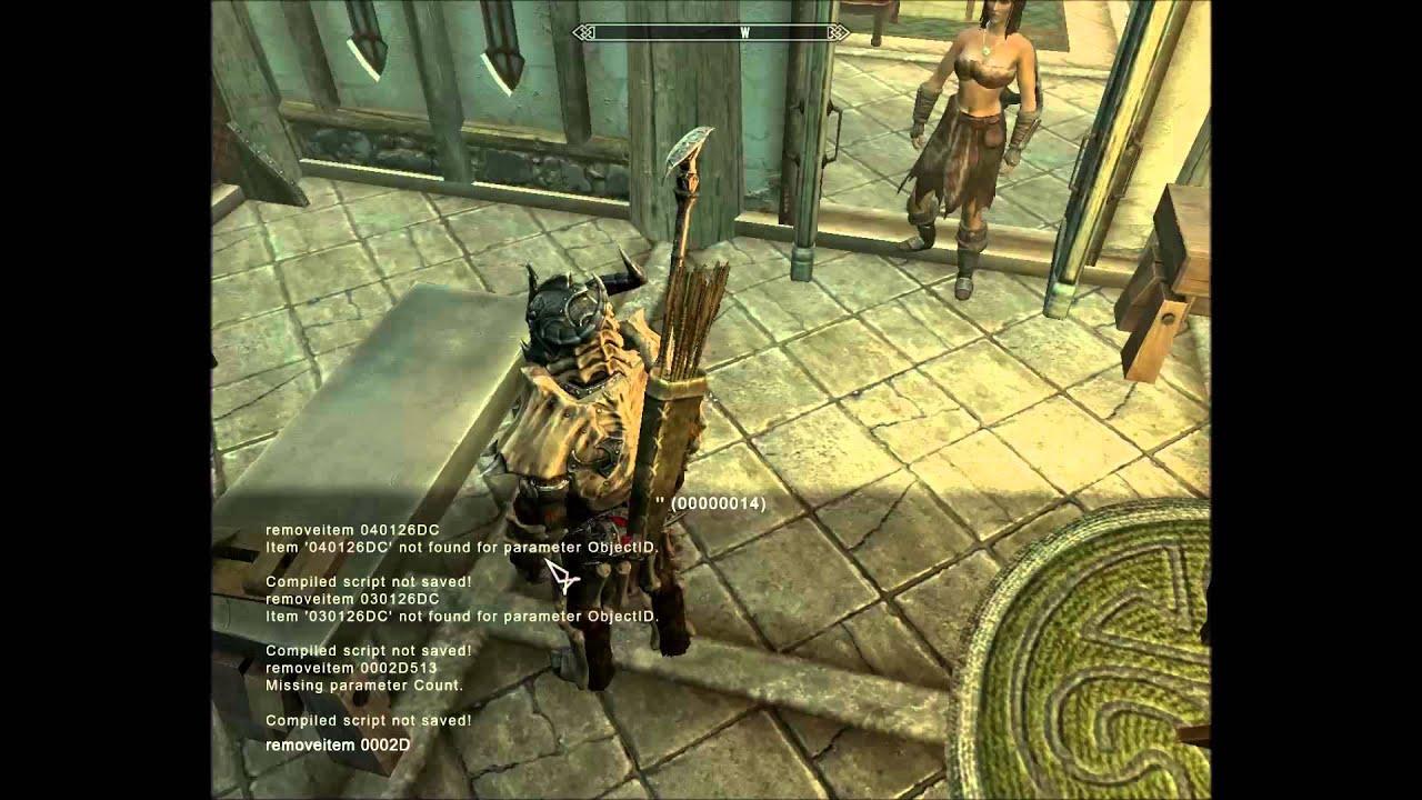 skyrim remove elder scrolls from inventory