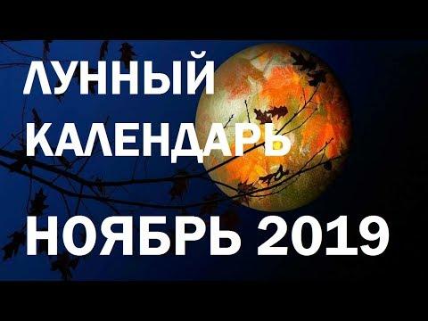 ЛУННЫЙ КАЛЕНДАРЬ на НОЯБРЬ 2019 🌙 Фазы Луны, полнолуние, новолуние, благоприятные дни