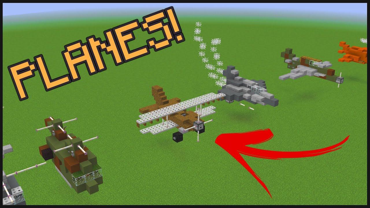 10 Minecraft Aircraft Designs YouTube
