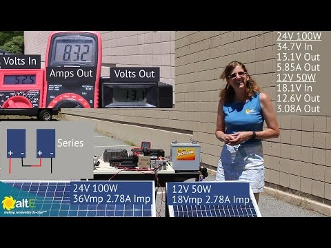 Mismatched Solar Panels- Same amps, different volts and watts