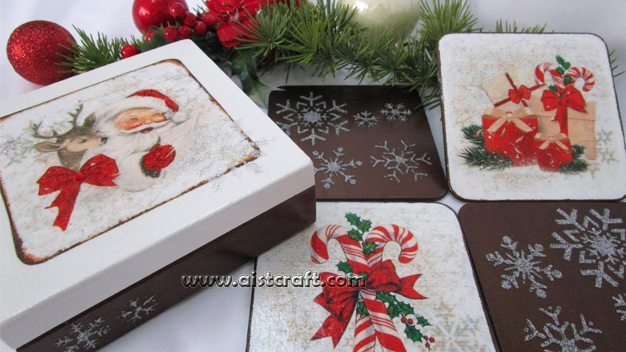 Decoration Coasters Christmas Gift Idea DIY