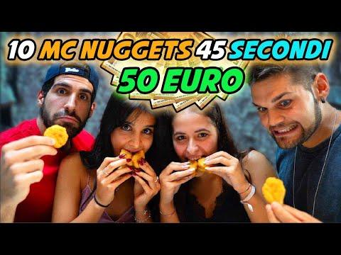 50 EURO SE MANGI 10 NUGGETS IN 45 SECONDI