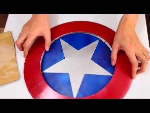 #43: Captain America's Shield Part 1 - Print & Cut 'Cardboard' (free PDF) | How To | Dali DIY