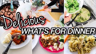 WHAT'S FOR DINNER? | COOK WITH ME 2020 | HOMEMAKING | FAMILY FRIENDLY MEALS AT HOME- KID FRIENDLY