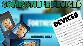 All Compatible Devices For Fortnite ANDROID!!