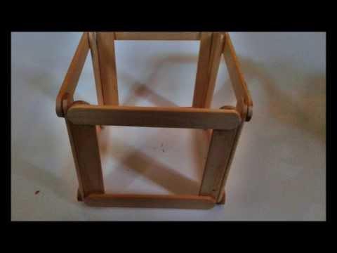 กล่องดินสอจากไม้ไอติม