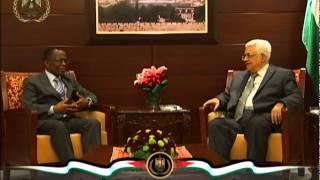 السيد الرئيس يستقبل سفير جنوب افريقيا لدى فلسطين ملونجيسي ماكاليميا