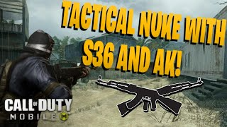 TACTICAL NUKE WITH S36 LMG AND AK-47 on Firing Range ( Call Of Duty: Mobile )