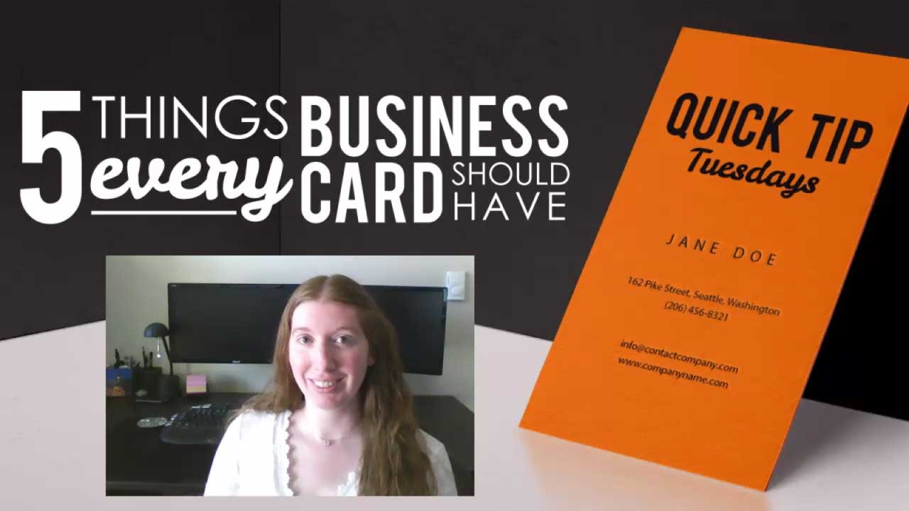 5 Things Every Business Card Should Have - YouTube