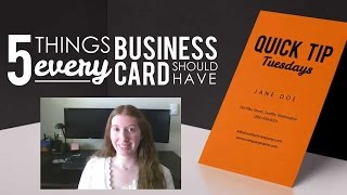 5 Things Every Business Card Should Have